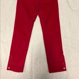 Gap Kids Pink Velvet Pants with Heart charms